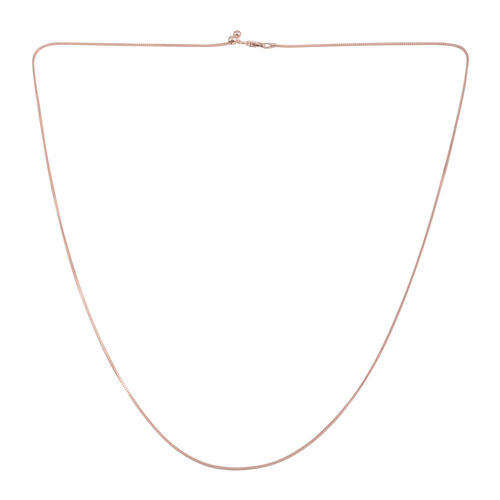 Close Out Deal Rose Gold Overlay Sterling Silver Snake Chain (Size 24 with Adjustable), Silver wt 3.50 Gms.