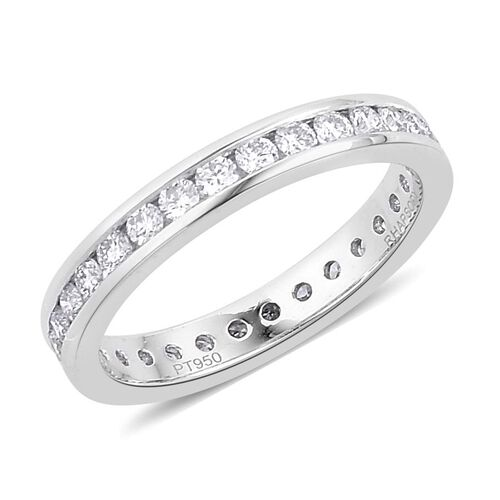 RHAPSODY 950 Platinum 1 Carat IGI Certified Diamond VVS E-F Full Eternity Band Ring.