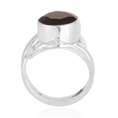 Brazilian Smoky Quartz (3.20 Ct) Sterling Silver Ring  3.202  Ct.