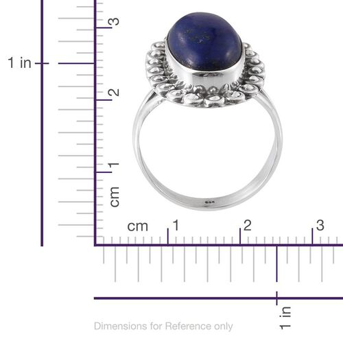 Jewels of India Lapis Lazuli (Ovl) Ring in Sterling Silver 10.100 Ct.