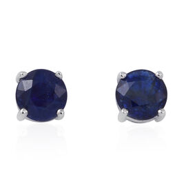 ILIANA 18K W Gold Rare AAAA Ceylon Sapphire (Rnd) Stud Earrings 1.000 Ct.