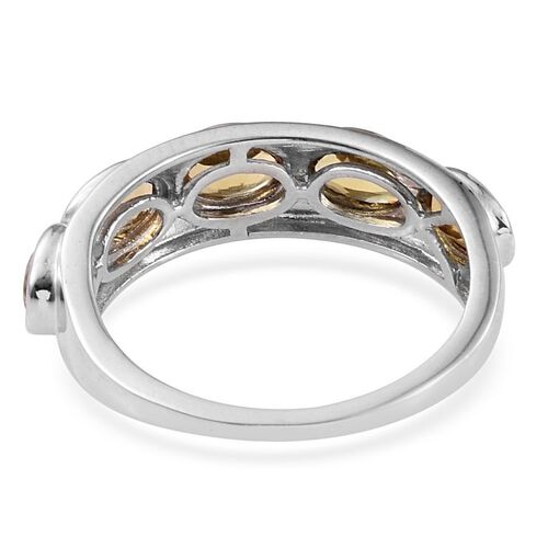 Marialite (Ovl) 5 Stone Ring in Platinum Overlay Sterling Silver 1.750 Ct.