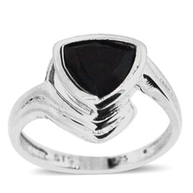 Boi Ploi Black Spinel (Trl) Solitaire Ring in Sterling Silver 2.500 Ct.