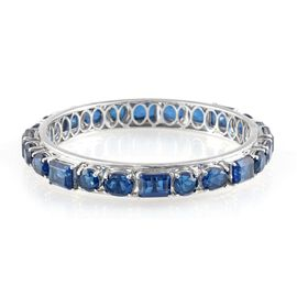 Ceylon Colour Quartz (Oct) Bangle in Platinum Overlay Sterling Silver (Size 7.5) 51.000 Ct.