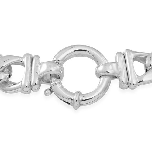 Statement Collection Sterling Silver Curb Bracelet (Size 7.5), Silver wt 20.00 Gms.