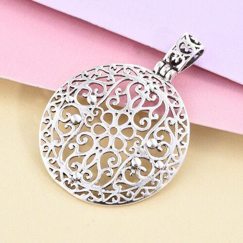 Filigree Circle Pendant in Sterling Silver