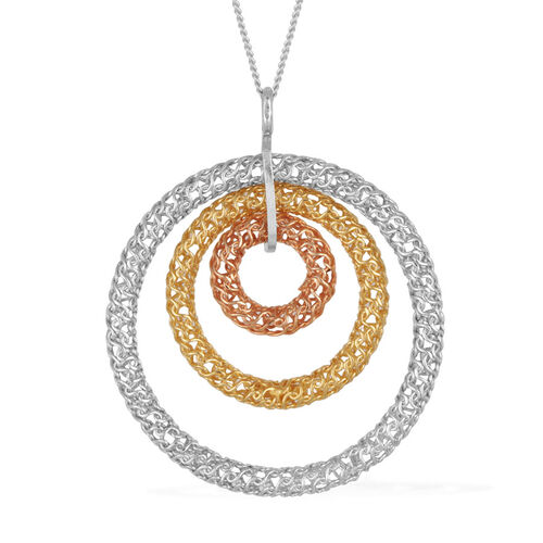 L Italia Collection Sterling Silver Pendant With Chain, Silver wt 4.33 Gms.
