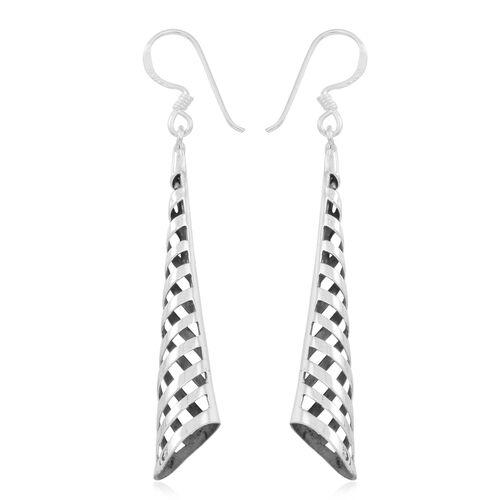 Thai Sterling Silver Hook Earrings, Silver wt 4.21 Gms.