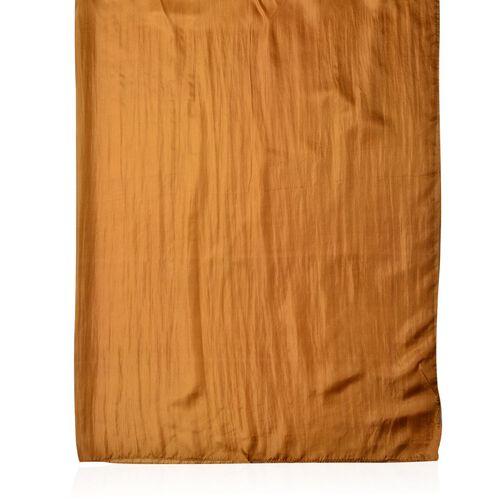 100% Mulberry Silk Bronze Colour Scarf (Size 180X100 Cm)