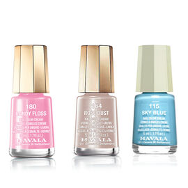 MAVALA- 3 piece Polish Set115 Sky Blue 164 Rose Dust and 180 Candy Floss