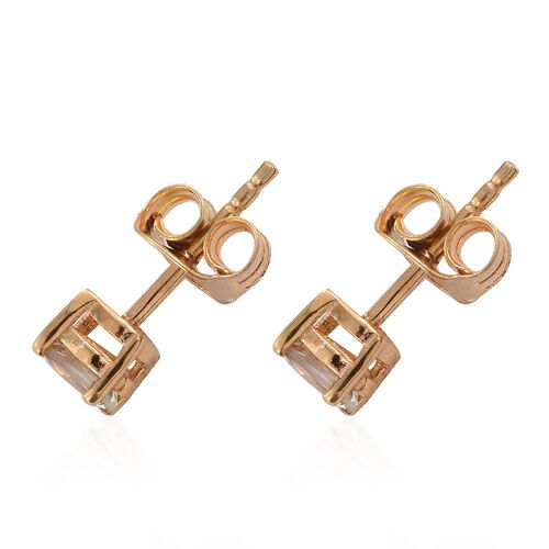 Natural Turkizite (Ovl) Earrings (with Push Back) in 14K Gold Overlay Sterling Silver