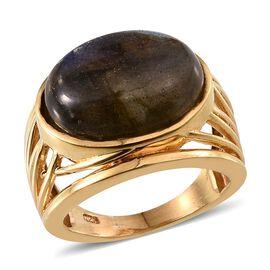 Labradorite (Ovl) Ring in 14K Gold Overlay Sterling Silver 10.000 Ct.