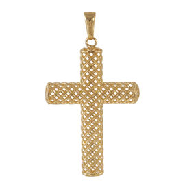 JCK Vegas Collection 9K Y Gold Cross Pendant
