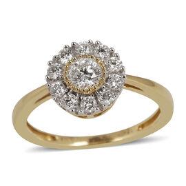 ILIANA 18K Y Gold IGI Certified Diamond (Rnd) (SI/ G-H) Ring 0.500 Ct.