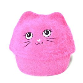 Fuchsia Colour Cat Face Child Cap (Size 25 Cm)