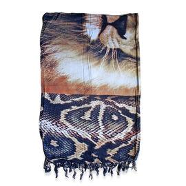 100% Rayon Batik Print Multi Colour Animal Pattern Sarong (Size 160x110 Cm)