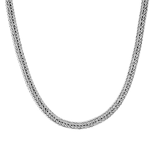 Royal Bali Collection Sterling Silver Tulang Naga Necklace (Size 20), Silver wt 93.80 Gms.