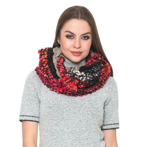 Red, Black and Grey Colour Scarf (Free Size)