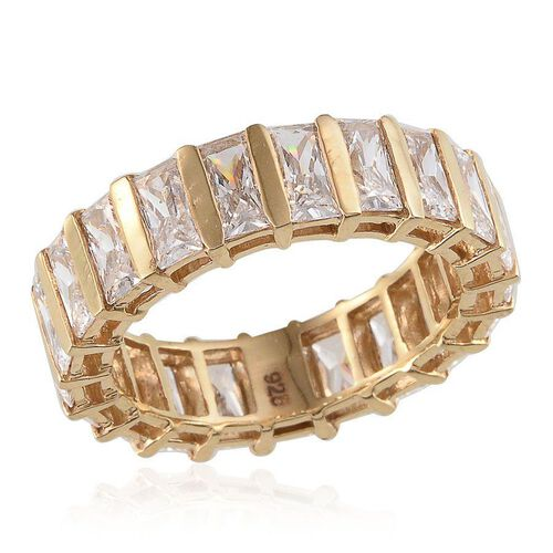 J Francis - 14K Gold Overlay Sterling Silver (Bgt) Full Eternity Ring Made With SWAROVSKI ZIRCONIA 7.350 Ct.