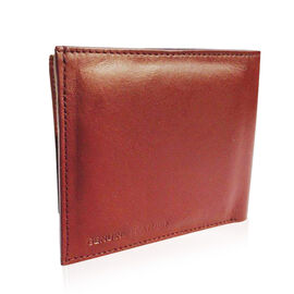 Genuine Leather Burgundy Colour RFID Men Wallet with Card Holder (Size 12x10 Cm)