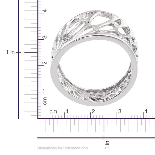 Platinum Overlay Sterling Silver Ring, Silver wt 4.07 Gms.