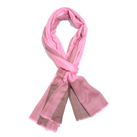 100% Cashmere Wool Super Pink Colour Scarf (Size 200x70 Cm)