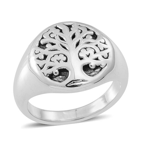 Thai Sterling Silver Tree of Life Ring, Silver wt 5.19 Gms.