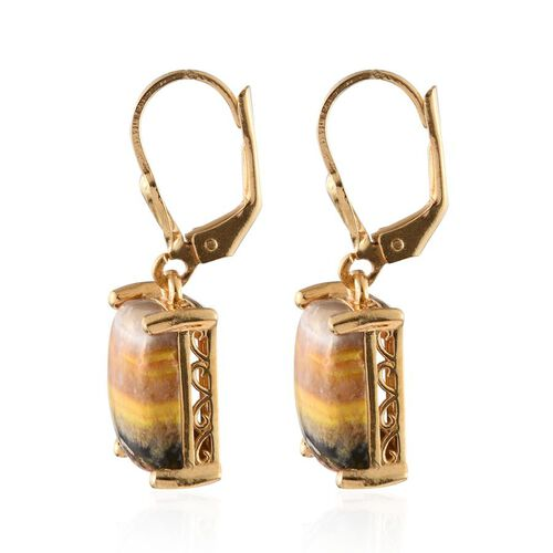 Bumble Bee Jasper (Bgt) Lever Back Earrings in 14K Gold Overlay Sterling Silver 8.000 Ct.
