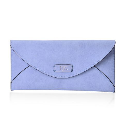 Set of 2 - TJC Envelope Design Light Blue Colour and Croc Embossed Grey Colour Wallet (Size 20.5x10 Cm and 20x10 Cm)