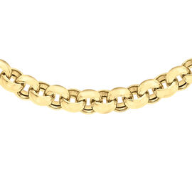Close Out Deal 9K Y Gold Belcher Necklace (Size 17), Gold wt 17.50 Gms.