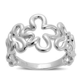 LucyQ Splash Ring in Rhodium Plated Sterling Silver 5.32 Gms.