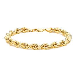 JCK Vegas Collection Deal 9K Y Gold Rope Bracelet (Size 8), Gold wt 6.80 Gms.
