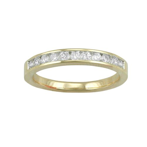 ILIANA 18K Y Gold IGI Certified Diamond (Rnd) ( G-H SI) Ring   0.500 Ct.