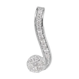 Close Out Deal 14K W Gold Diamond (Rnd) Pendant 0.300 Ct.