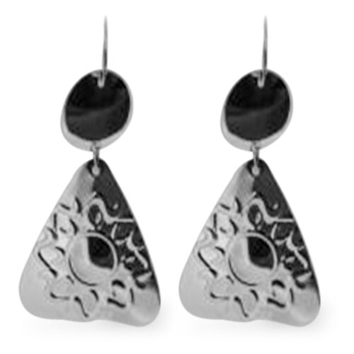 Designer Inspired Silver Hook Earrings, Silver wt 7.50 Gms.