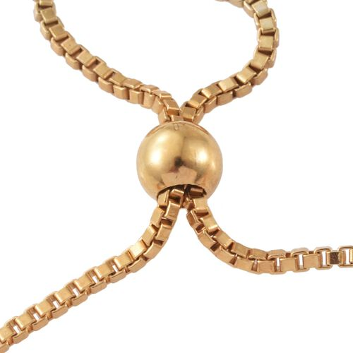 Diamond Adjustable Floral Bracelet (Size 6.5 to 8.5) in 14K Gold Overlay Sterling Silver 0.750 Ct.