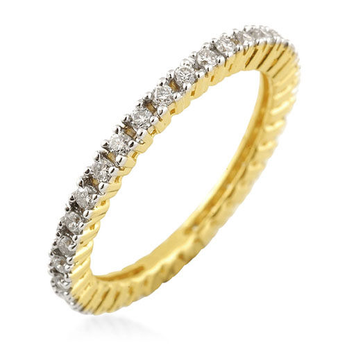 ILIANA Diamond (SI/G-H) 18K Yellow Gold Ring   0.500  Ct.