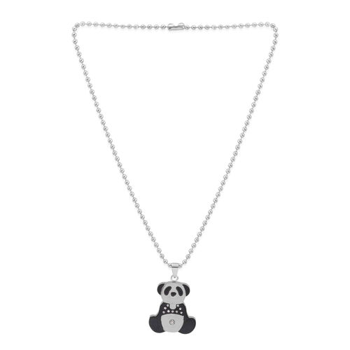 Close Out Deal ION Plated Panda Pendant with Stainless Steel Chain