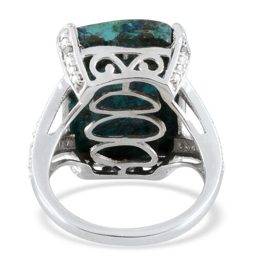 Table Mountain Shadowkite (Cush 16.50 Ct), Diamond Ring in Platinum Overlay Sterling Silver 16.550 Ct.