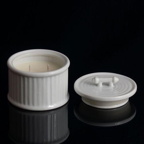 Home Decor - Frangipani Ceramic Wax Candle