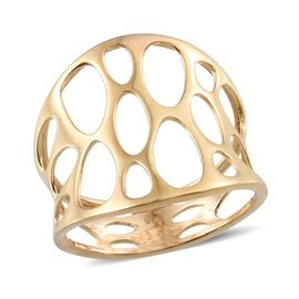 14K Gold Overlay Sterling Silver Ring, Silver wt 3.35 Gms.