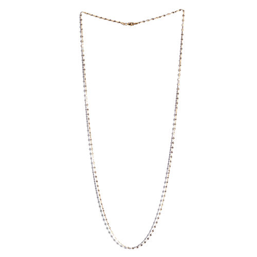 JCK Vegas Collection 14K Gold Overlay Sterling Silver Leaf Chain (Size 30), Silver wt 3.70 Gms.