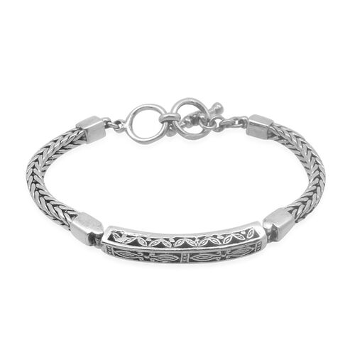 Designer Collection Sterling Silver Bracelet (Size 7.5 to 8 Inch), Silver wt 24.20 Gms.