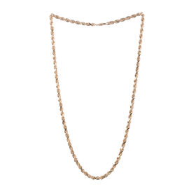 Close Out Deal 9K Y Gold Diamond Cut Rope Necklace (Size 24), Gold wt. 9.20 Gms