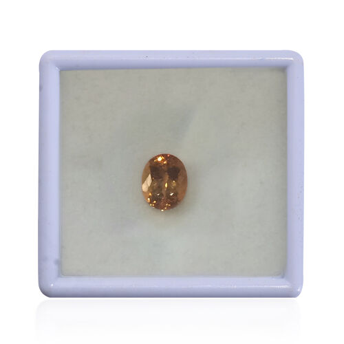 IGI Certified Imperial Topaz Faceted (Oval 10.07x8.06 4A) 3.420 Cts (GT12833603)