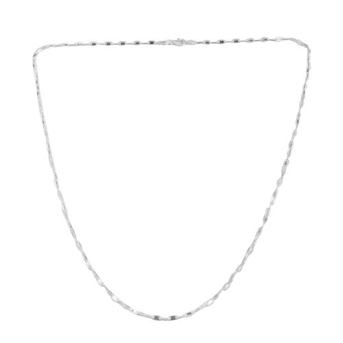 Close Out Deal Sterling Silver Flat Marinar Chain (Size 18), Silver wt 4.80 Gms.