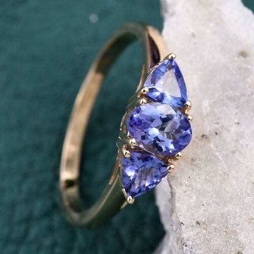 9K Y Gold Tanzanite (Ovl 1.00 Ct) Ring 2.000 Ct.