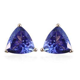 14K Y Gold AA Tanzanite (Trl) Stud Earrings (with Push Back) 1.500 Ct.