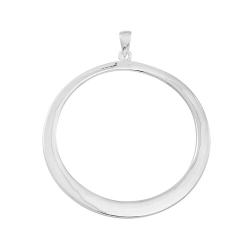 Thai Sterling Silver Circle Pendant, Silver wt 7.01 Gms.