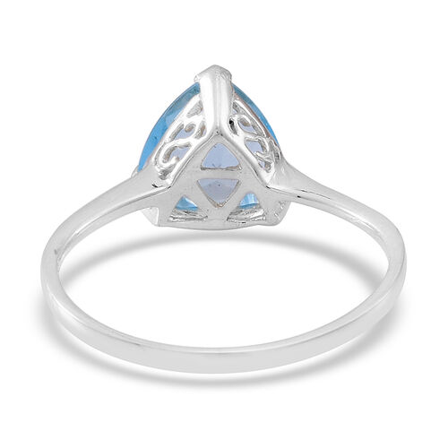 Sky Blue Topaz (Trl) Solitaire Ring, Pendant and Stud Earrings in Sterling Silver 7.500 Ct.